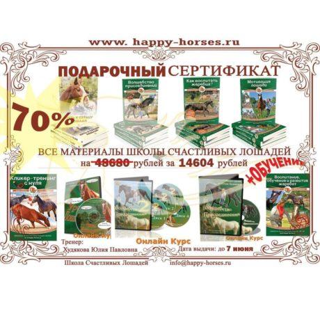 Сертификат на все материалы Школы Счастливых Лошадей